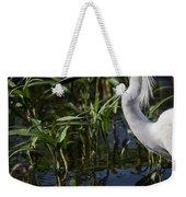 Snowy Egret Stalking Weekender Tote Bag