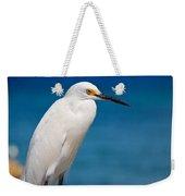 Snowy Egret Takin' Five Weekender Tote Bag