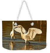 Snowy Egret Wingspan Weekender Tote Bag