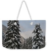 Snowy Fir Trees  Weekender Tote Bag