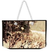 Snowy Flowes And Layers Weekender Tote Bag