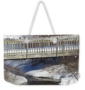 Snowy Foot Bridge Weekender Tote Bag