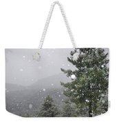 Snowy Forest Weekender Tote Bag