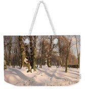 Snowy Forest Road 1908 Weekender Tote Bag