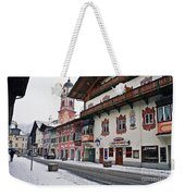 Snowy Good Friday Weekender Tote Bag