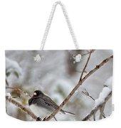 Snowy Grace Cardinals Weekender Tote Bag