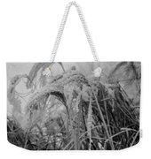 Snowy Grass Weekender Tote Bag