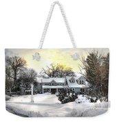 Snowy Home Weekender Tote Bag