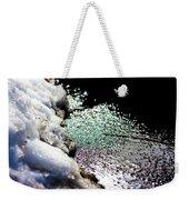 Snowy Lakeside Weekender Tote Bag