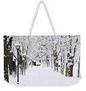 Snowy Lane In Winter Park Weekender Tote Bag