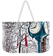 Snowy Morning - Oil Weekender Tote Bag