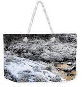 Snowy Mountain Stream V2 Weekender Tote Bag