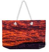 Snowy Mountain Sunset Weekender Tote Bag