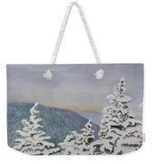 Snowy Mountains Of Nek Weekender Tote Bag