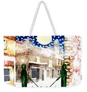 Snowy Night Weekender Tote Bag