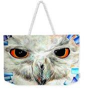 Snowy Owl - Female - Close Up Weekender Tote Bag by Daniel Janda