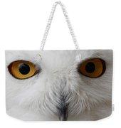 Snowy Owl Stare Weekender Tote Bag