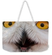 Snowy Owl Up Close And Personal Weekender Tote Bag