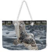 Snowy Owl Wingspan Weekender Tote Bag