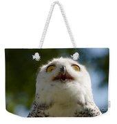 Snowy Owl With Big Eyes Weekender Tote Bag