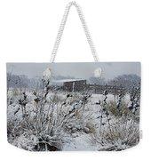 Snowy Pasture Weekender Tote Bag by Melany Sarafis