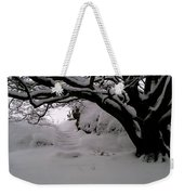 Snowy Path Weekender Tote Bag by Amanda Moore