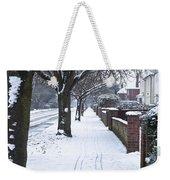 Snowy Path Weekender Tote Bag by Tom Gowanlock