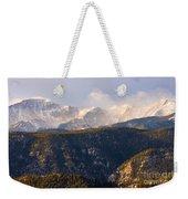 Snowy Pikes Peak Weekender Tote Bag