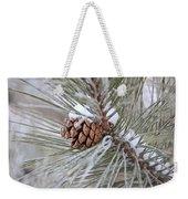 Snowy Pine Weekender Tote Bag
