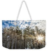 Snowy Pines With Sunflair Weekender Tote Bag