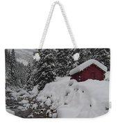 Wyoming Snowy Retreat Weekender Tote Bag