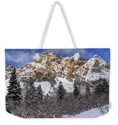 Snowy Ridge Above Bell Canyon - Wasatch Mountains - Utah Weekender Tote Bag