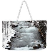 Snowy River At Mt. Hood Weekender Tote Bag