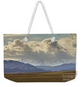 Snowy Rocky Mountains County View Weekender Tote Bag