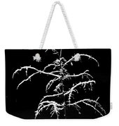 Snowy Sophistication - An Elegant Fledgling Weekender Tote Bag