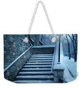 Snowy Stairway Weekender Tote Bag