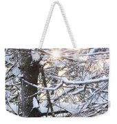 Snowy Sunbursts Weekender Tote Bag