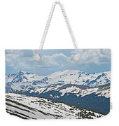 Snowy Terrain Near Top Of Trail Ridge Road In Rocky Mountain Np-co   Weekender Tote Bag