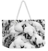 Snowy Tree - Black And White Weekender Tote Bag