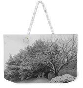 Snowy Trees In Black And White Weekender Tote Bag