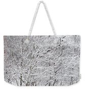 Snowy Trees In Winter Park Weekender Tote Bag
