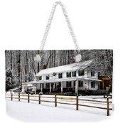 Snowy Valley Green Weekender Tote Bag