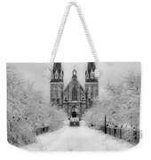 Snowy Villanova In Black And White Weekender Tote Bag