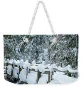 Snowy Wagner's Bridge Weekender Tote Bag