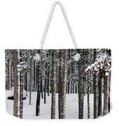 Snowy Walk In The Woods IIi Grand Lake Co Weekender Tote Bag