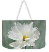 Snowy White Cosmos Weekender Tote Bag