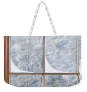 Snowy Window Weekender Tote Bag