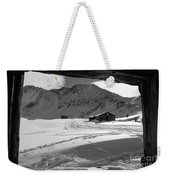 Snowy Window View Weekender Tote Bag