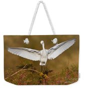 Snowy Wingspread Weekender Tote Bag