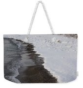 Snowy Winter Beach Patterns - Lake Ontario Toronto Canada Weekender Tote Bag